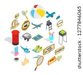 hit icons set. isometric set of ... | Shutterstock . vector #1277846065
