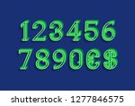 curly volume numbers with... | Shutterstock .eps vector #1277846575