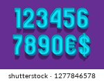 classic volume numbers with... | Shutterstock .eps vector #1277846578