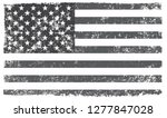 grunge american flag.black and... | Shutterstock .eps vector #1277847028