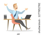 isolated happy businessman... | Shutterstock . vector #1277852782
