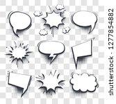 big set hand drawn blank... | Shutterstock .eps vector #1277854882