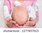 little newborn baby with... | Shutterstock . vector #1277857015