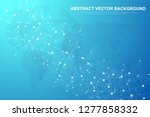 abstract plexus background with ... | Shutterstock .eps vector #1277858332