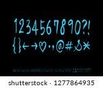 vector fonts   handwritten... | Shutterstock .eps vector #1277864935
