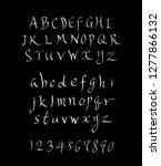 vector fonts   handwritten... | Shutterstock .eps vector #1277866132