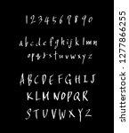 vector fonts   handwritten... | Shutterstock .eps vector #1277866255