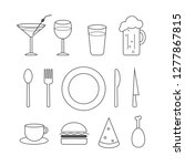 food icon vector set  cutlery.
