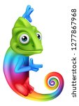a chameleon cartoon lizard... | Shutterstock .eps vector #1277867968