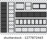 set of vector film strip...   Shutterstock .eps vector #1277872465
