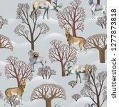 watercolor winter seamless...   Shutterstock . vector #1277873818