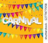 carnival banner with bunting... | Shutterstock .eps vector #1277877058