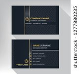 business model name card luxury ... | Shutterstock .eps vector #1277880235