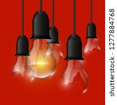 broken   whole light bulb...   Shutterstock .eps vector #1277884768