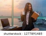 asian business woman working in ... | Shutterstock . vector #1277891485