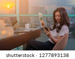 asian businesswoman having... | Shutterstock . vector #1277893138