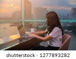 attractive asian businesswoman... | Shutterstock . vector #1277893282