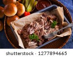 homemade pulled pork with... | Shutterstock . vector #1277894665
