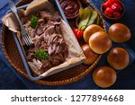 homemade pulled pork with... | Shutterstock . vector #1277894668