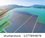 aerial view of floating solar... | Shutterstock . vector #1277894878