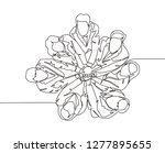 top view single line drawing of ... | Shutterstock .eps vector #1277895655