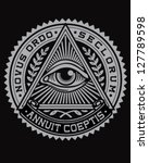 all seeing eye vector | Shutterstock .eps vector #127789598
