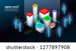 3d isometric concept... | Shutterstock .eps vector #1277897908