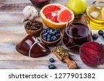 assortment of foods for healthy ... | Shutterstock . vector #1277901382