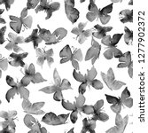 monochrome seamless pattern... | Shutterstock . vector #1277902372