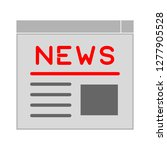 newspaper text lines icon ... | Shutterstock .eps vector #1277905528