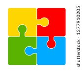 puzzle icon   puzzle isolate ... | Shutterstock .eps vector #1277910205