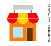 shopping store icon   shopping... | Shutterstock .eps vector #1277910352