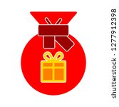 present icon    gift box... | Shutterstock .eps vector #1277912398