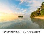 muri lagoon at sunrise in... | Shutterstock . vector #1277913895