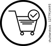 vector verified cart items icon  | Shutterstock .eps vector #1277914495