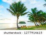 muri lagoon at sunrise in... | Shutterstock . vector #1277914615