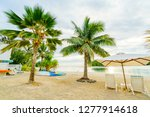 muri lagoon at sunrise in... | Shutterstock . vector #1277914618