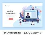 online education concept... | Shutterstock .eps vector #1277920948