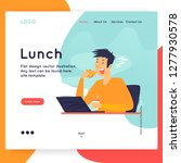 website template. lunch at the... | Shutterstock .eps vector #1277930578