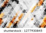 seamless urban geometric grunge ... | Shutterstock .eps vector #1277930845