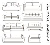 sofa icon set.  or illustration ... | Shutterstock . vector #1277932915