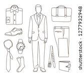 classical businessman clothes.  ... | Shutterstock . vector #1277932948