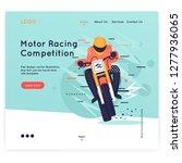 website template. motocross ... | Shutterstock .eps vector #1277936065