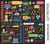 big set of social media... | Shutterstock .eps vector #1277937925