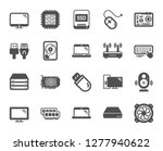 computer components  laptop ... | Shutterstock .eps vector #1277940622