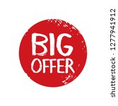 text big offer and red  grunge... | Shutterstock .eps vector #1277941912