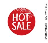 text hot sale and red  grunge... | Shutterstock .eps vector #1277943112