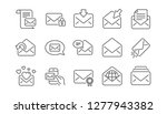 mail message line icons.... | Shutterstock .eps vector #1277943382