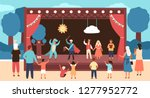 street theatre for children... | Shutterstock .eps vector #1277952772