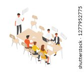 group of people or office... | Shutterstock .eps vector #1277952775